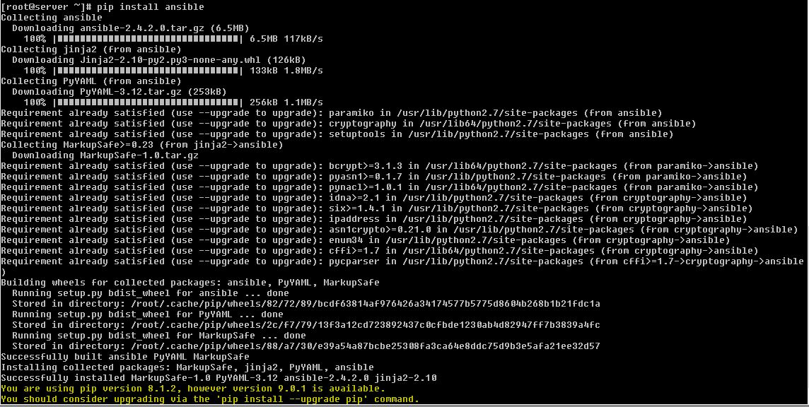 install pip package using ansible